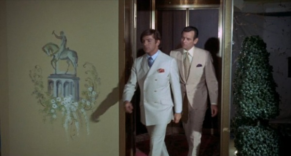 Elevator Foyer...that painting on the wall is a bit much.