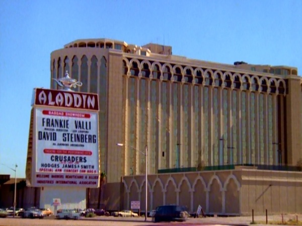 Aladdin exterior...this is the old Aladdin which was imploded to make way for the new one (now Planet Hollywood)