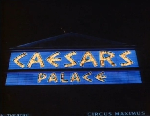 Great shot of the sparkling Caesars marquee