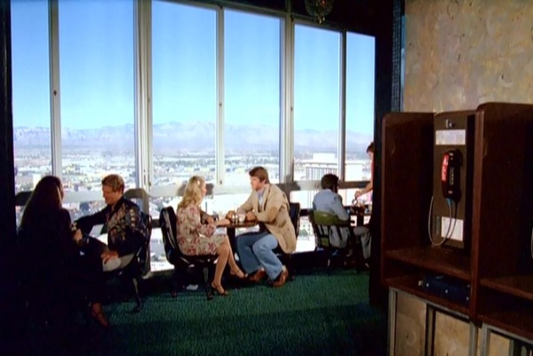 This shot is from a scene filmed in the 27th floor lounge of the long gone Landmark hotel.