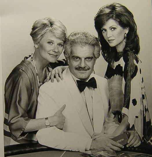 The cast: Hope Lange, Omar Sharif, & Victoria Principal