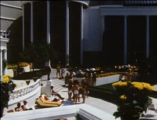 Pool shot with the Palace Court in the background...this looks a lot like the present day Rao's space.