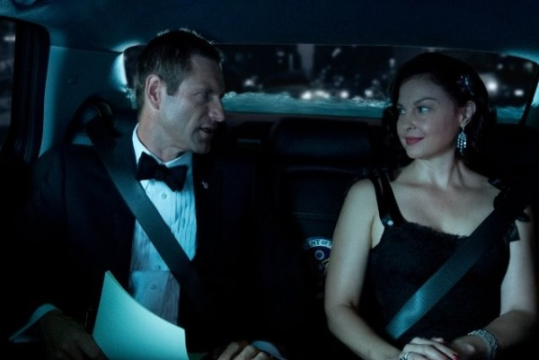 Aaron Eckhart and Ashley Judd in a publicity still from 'Olympus Has Fallen', which premieres in theatres on 3.22.13.