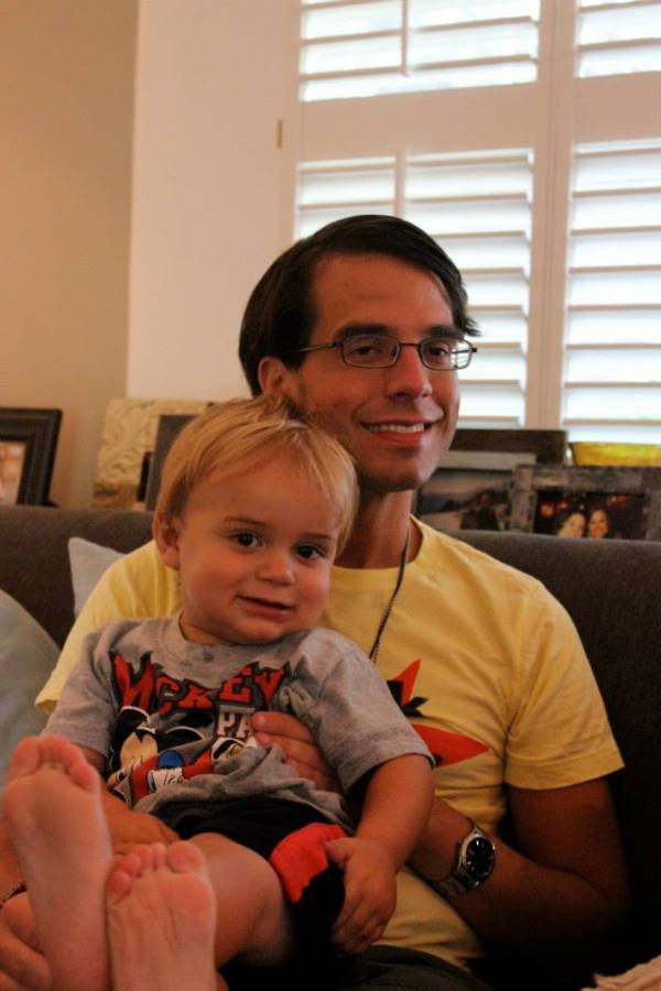 My nephew Luke and me. He turns two today and I'd not seen him since he was six months old. He's a Southern gentleman and lives in NC with his parents...go Duke!