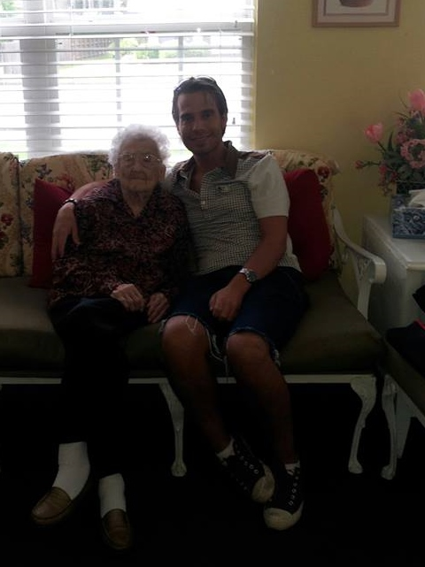 Here's Granny and me at her retirement home. She's doing remarkably well considering everything, so I was glad to get to visit with her a couple of days.