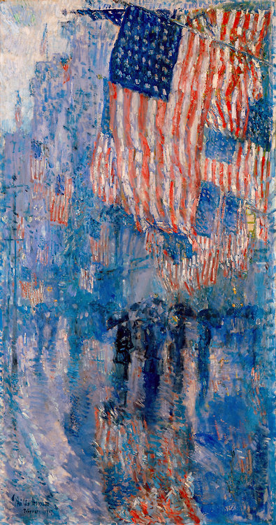 "Childe Hassam's ""The Avenue in the Rain,"" 1917"