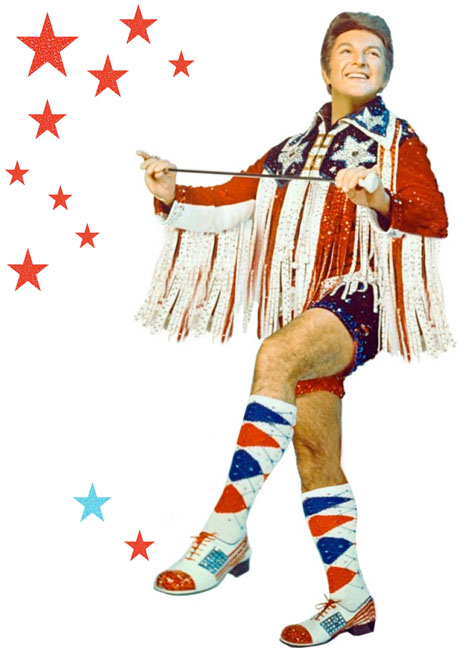 Liberace stole my 4th of July outfit