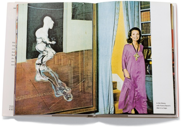 Lee and the Francis Bacon she had to part with, as ironically pictured in her photo memoir 'Happy Times'