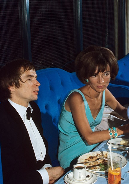 Lee and her friend Rudolf Nureyev, the ballet dancer. Lee nursed a crush on him for years in spite of his homosexuality.