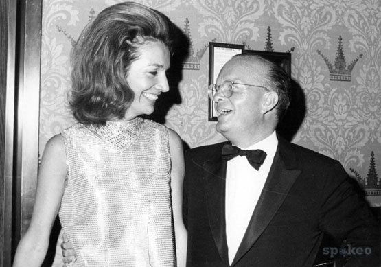 Lee & Truman at his Black & White Ball...she was one of only three ladies he danced with the entire night.