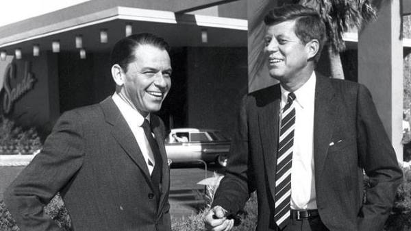 JFK in lovely Las Vegas with then-friend Sinatra