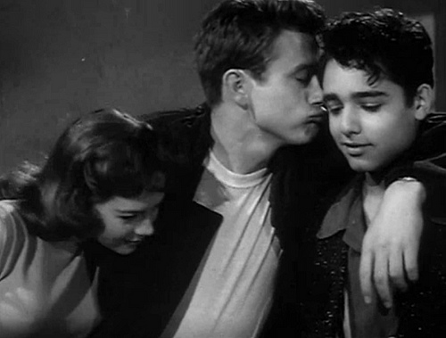 Natalie Wood, James Dean, & Sal Mineo in 'Rebel Without a Cause', 1955.