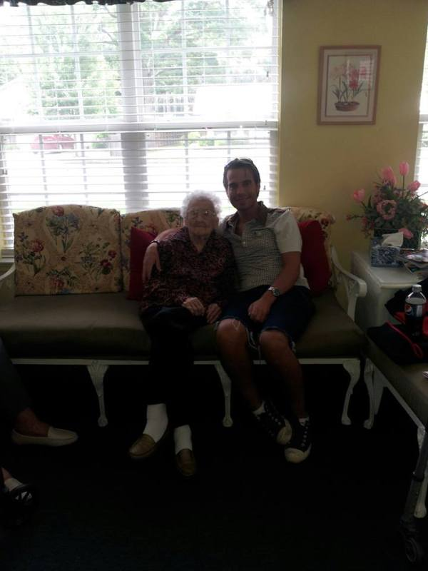 Last photo of me and Granny, June 2013