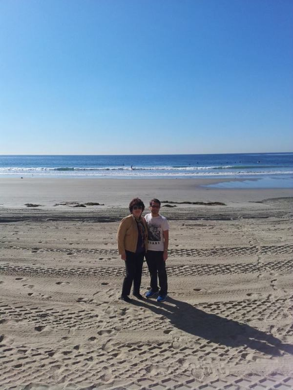 Mums & me on the beach outside San Diego, 12.12.13
