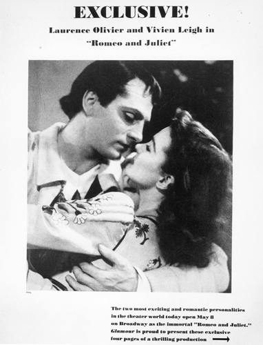 A poster for the 1940 Geary Theater production of 'Romeo and Juliet'