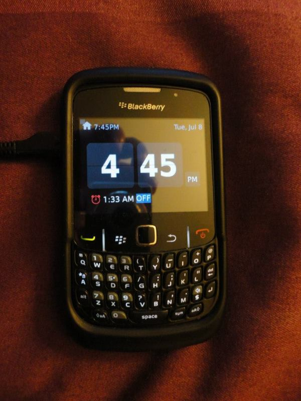 "The ""ancient"" Blackberry I'm using...doesn't it look all new and shiny polished up?"
